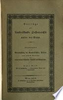 Beiträge zur Landeskunde Oesterreich's unter der Enns