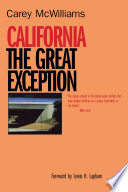 California  the Great Exception