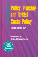policy transfer and british social policy