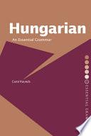 Hungarian  An Essential Grammar