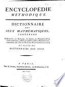 Dictionnaire des jeux math  matiques