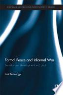 Formal Peace and Informal War Book PDF