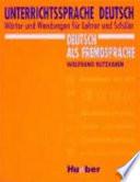 Unterrichtssprache Deutsch