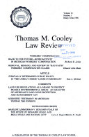 Thomas M  Cooley Law Review
