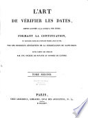 L Art de v  rifier les dates depuis l ann  e 1770 jusqu    nos jours  formant la continuation  de l art de v  rifier les dates