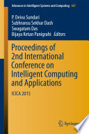Proceedings Of 2nd International Conference On Intelligent Computing And Applications
