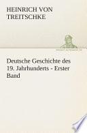 Deutsche Geschichte des 19  Jahrhunderts   Erster Band
