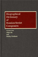 Biographical Dictionary of Russian Soviet Composers