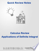 Calculus Quick Review Notes  Applications of Definite Integral