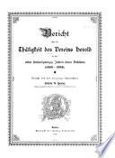Bericht uber die Thatigkeit des Vereins Herold in den ersten funfundzwanzig Jahren seins Bestehens (1869-1894)