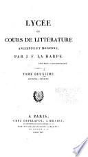 Poésie [suite] Discours sur le style des prophètes et l'esprit des livres saints. Éloquence
