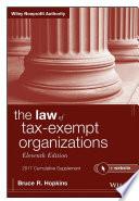 The Law of Tax Exempt Organizations   Website  2017 Cumulative Supplement