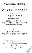 Beschreibung und Geschichte der Stadt Steyer und ihrer nächsten Umgebungen
