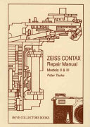 Zeiss Contax Repair Manual  Models II and III