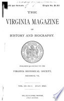 The Virginia Magazine of History and Biography