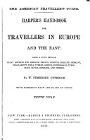 Book Harper's Hand-book for Travellers in Europe and the East