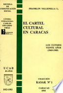 El cartel cultural en Caracas