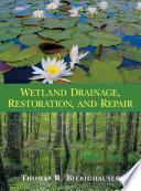 Wetland Drainage Restoration And Repair