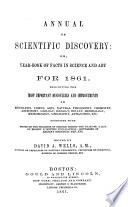 The Annual of scientific discovery  or yearbook of facts in science and art