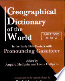 Geographical Dictionary of the World