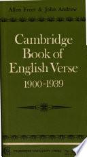 Cambridge Book of English Verse 1900 1939