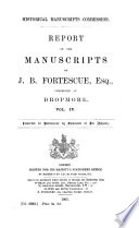 The Manuscripts of J  B  Fortscue  Esq