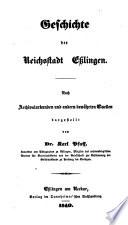 Geschichte der Reichsstadt Eßlingen