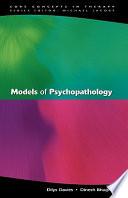 Models Of Psychopathology