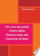 Per una seconda Carta della Democrazia del Comune di Terni