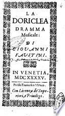 La Doriclea dramma musicale  di Giouani Faustini