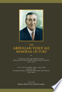 The Abdullah Yusuf Ali Memorial Lecture