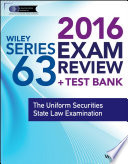 Wiley Series 63 Exam Review 2016   Test Bank