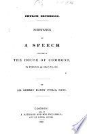 Church Extension. Substance of a speech delivered in the House of Commons ... 30th June 1840