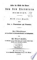 Über die Stelle des Varro von den Liciniern (De re rust. I,2. § 9)