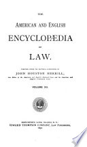 The American and English Encyclopedia of Law Book PDF