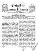 Centralblatt der Land- und Forstwirthschaft in Böhmen. Red. von Alois Borrosch