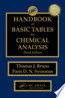 Crc Handbook Of Basic Tables For Chemical Analysis Third Edition book