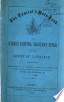 The Tourists Note book for Quebec  Cacouna  Saguenay River and the Lower St  Lawrence
