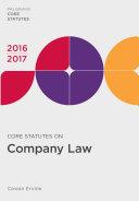 Core Statutes on Company Law 2016-17