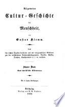 Allgemeine Cultur Geschichte der Menschheit