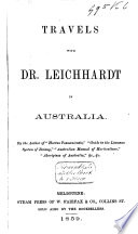Travels with Dr  Leichhardt in Australia