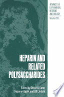 Heparin And Related Polysaccharides book