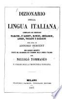 Dizionario della lingua italiana comp. sui dizionarii Tramater