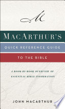MacArthur s Quick Reference Guide to the Bible