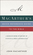 download ebook macarthur\'s quick reference guide to the bible pdf epub