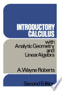Introductory Calculus