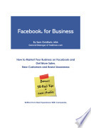 Facebook for Business   sold on Amazon    How To Market Your Business on Facebook and Get More Sales  New Customers and Brand Awareness