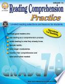 Reading Comprehension Practice  Grades 7   8