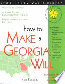 How to Make a Georgia Will