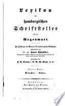 Lexikon der hamburgischen Schriftsteller bis zur Gegenwart